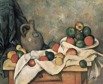 Paul Cézanne, Curtain, jug and fruit bowl (c.1893-1894), Oil on canvas. 59.5 x 73 cm (PRNewsfoto/Artmarket.com)