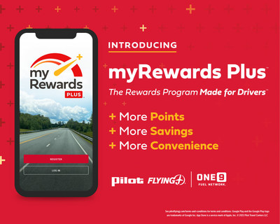 Join the myRewards Plus app to save time and money at every fuel stop in Pilot Company's network, including Pilot and Flying J Travel Centers and One9 Fuel Network locations.