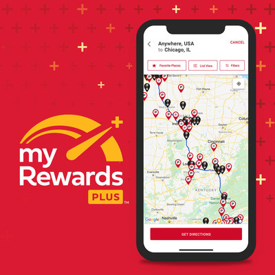 With myRewards Plus, drivers can use trip planning features to find the best places to stop for fuel, food and everyday items along their route, including Pilot and Flying J Travel Centers and One9 Fuel Network locations.