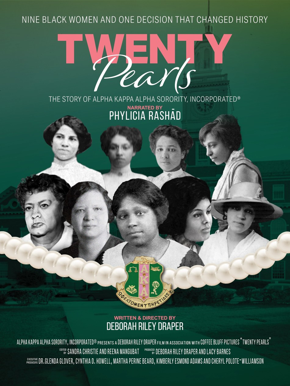 Alpha Kappa Alpha Sorority, Incorporated announces the North American release of TWENTY PEARLS, the official documentary film which chronicles the organization's history. Narrated by Phylicia Rashād, TWENTY PEARLS journeys through 113 provocative years.