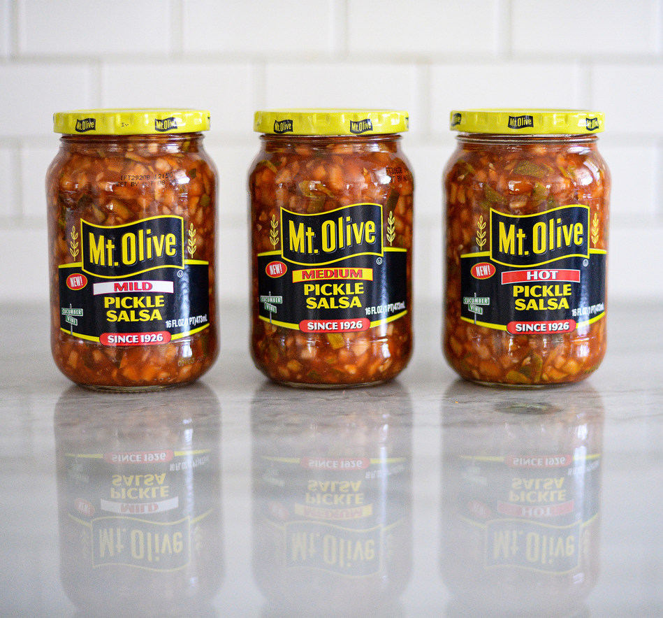 Spice up your favorite recipes with Mt. Olive's dill-licious new Pickle Salsa, available in Mild, Medium & Hot.