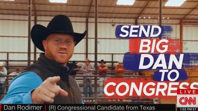 Dan Rodimer Struck Back At False Claims Against Him Riding Bull In ad for TX-06.