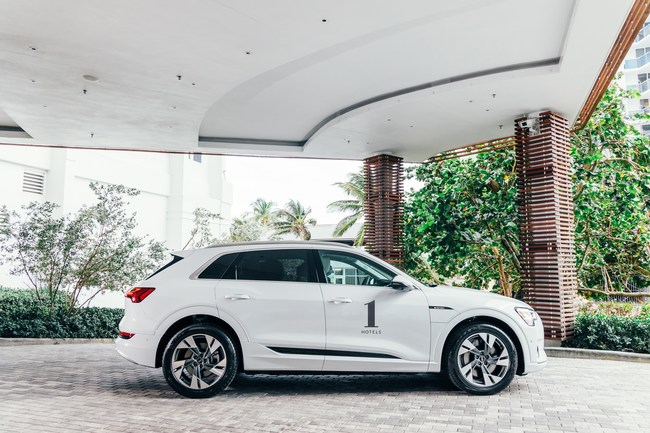 The Audi e-tron will serve as the Official Electric Vehicle of 1 Hotels in the U.S. including New York, Los Angeles and Miami