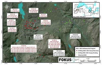 2020-2021 Galloway Drill Program (CNW Group/Fokus Mining Corporation)