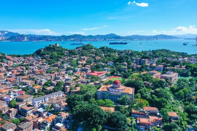 Gulangyu Island, the most popular tourist spot in Xiamen, East China's Fujian province. [Photo provided to China Daily]