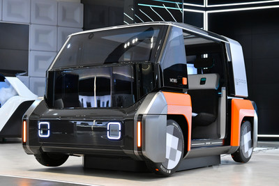 M.VISION POP: Hyundai Mobis disclosed the urban shared mobility concept car, M.Vision POP, 2-seater small EV mobility