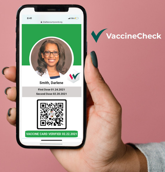 Digital Health Pass from VaccineCheck.us