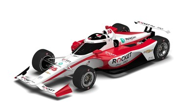Image of the #16 Chevrolet sponsored by Rocket Pro TPO which will be piloted by Simona De Silvestro in the Indianapolis 500