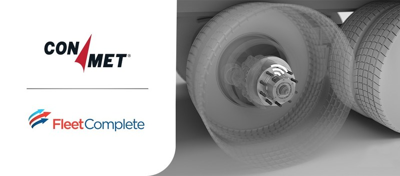 Fleet Complete & ConMet are combining smart technologies to help companies around the globe harness vehicle component data to enhance performance, safety, and efficiency. (CNW Group/Fleet Complete)