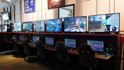 Welcome to the exciting world of Virtual Reality. Ideal AC eSports is a state-of-the-art VR technology hub, where visitors can try their hands at over 2,000 games! Located conveniently within Tanger Outlets' the Walk, we are the shore's hottest, family-friendly attraction. AC eSports boasts 52,000 sq ft. of sleek, modern VR equipment to create a world-class gaming experience. VR is the new frontier of gaming and AC eSports is the best place in South Jersey to experience it for yourself.