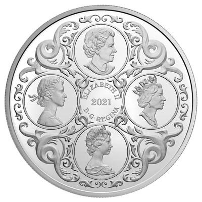 La pièce de collection en argent de la Monnaie royale canadienne marquant le 95e anniversaire de la reine (avers) (Groupe CNW/Monnaie royale canadienne)