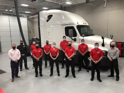 The eight graduating students from the Premier Truck Group Technician Skills Program at Fort Bliss will join the ranks of Premier Truck Group's nearly 1,800 employees, including some 600 technicians. The company spans 25 commercial truck dealerships across the United States and Canada.