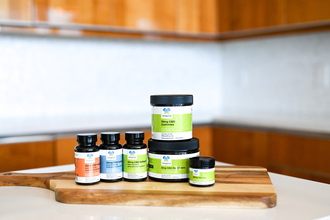 Imaginal Biotech, a new line of CBD-infused premium beauty and wellness products are THC-free and include other beneficial compounds like curcumin, melatonin, and elderberry.