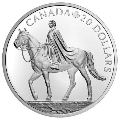 Moeda de prata de colecionador da Casa da Moeda Real Canadense celebra o 95º aniversário da rainha (Reverso)