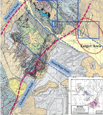 Maggie Creek project and target area. (PRNewsfoto/U.S. Gold Corp.)