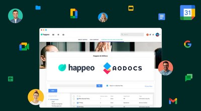 Happeo and AODocs have joined forces to create a rich integration, offering Google Workspace's better alternative to Microsoft SharePoint. The integration will be released on Happeo's platform on the 6th of April.