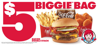 #SecureTheBag: Wendy's Fan-Favorite Bacon Double Stack™ Returns to the $5 Biggie™ Bag Nationwide.