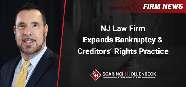 David Edelberg, a bankruptcy law attorney with decades of experience handling various bankruptcy matters has joined Scarinci Hollenbeck's Lyndhurst, NJ office as Partner, according to firm's Managing Partner Donald Scarinci.