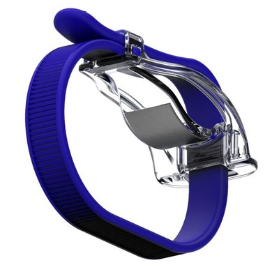 The R³ device integrated into a proprietary wristband