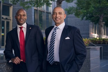 Darnell Parker, CEO, Ingenious Financial (left) and Derek Taylor, Chief Operating Officer
