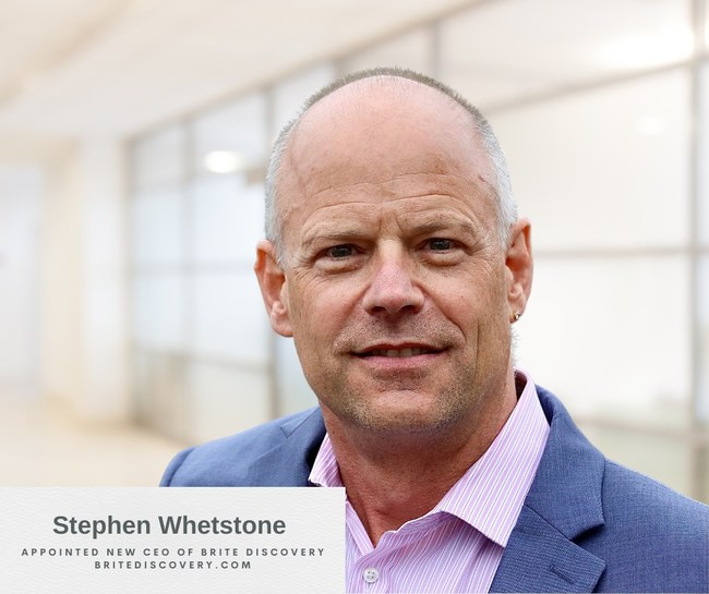 BRITE GmbH and wholly owned U.S. subsidiary BRITE Discovery, LLC (together, BRITE), an enterprise data and discovery management software company, today announced that Stephen D. Whetstone, Esq. has joined as its global CEO.