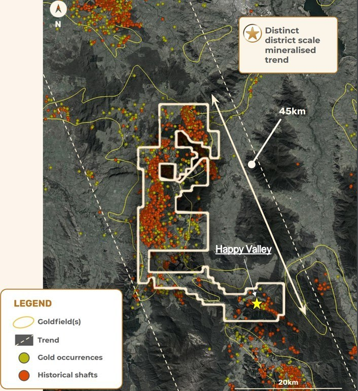 Figure 6 – EL006724 showing location of the Happy Valley Mining Centre (CNW Group/E79 Resources Corp.)