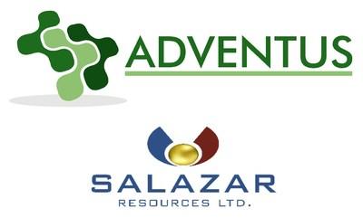 Adventus Mining Corporation (ADZN-tsxv, ADVZF-otcqx) & Salazar Resources Limited Logo (CNW Group/Adventus Mining Corporation)