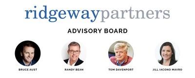 Ridgeway Partners Advisory Board: Bruce Aust, Randy Bean, Tom Davenport, and Jill Mavro