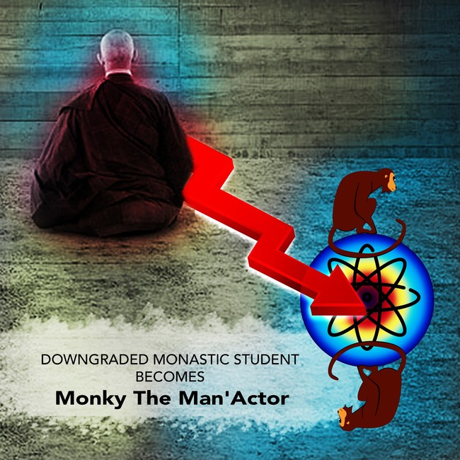 Monky The Man'Actor, Frontman of the band