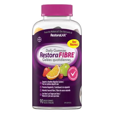 New RestoraFIBRE® Daily Gummies offers convenient source of fibre (CNW Group/Bayer Inc.)