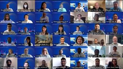 Les startups qui rejoignent le premier programme d'accélération de Visa en Asie-Pacifique rencontrent les membres de l'équipe Visa lors d'un événement de lancement virtuel