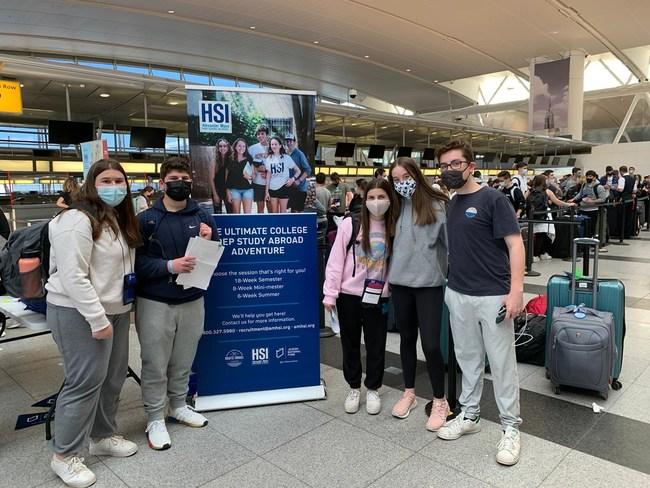 JNF-USA High School in Israel students prepare to depart New York's JFK Airport