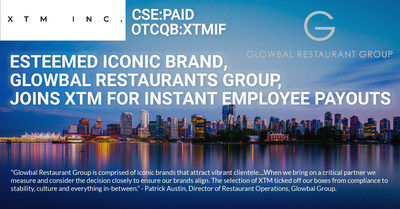 XTM's Today Program to Roll Out to Glowbal Restaurants Group (CNW Group/XTM Inc.)