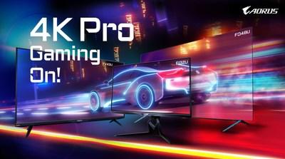 Está Lançado o 4K Pro Gaming! GIGABYTE AORUS Apresenta Monitores 4K Táticos Para Jogos (PRNewsfoto/GIGABYTE)