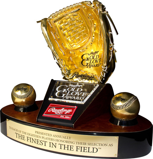 Rawlings Gold Glove Award(R) New Sabermetric Component Revealed; sabermetric experts construct new SABR Defensive Index(TM) to join managers and coache' votes starting with upcoming 2013 Rawlings Gold Glove Award selection process. (PRNewsFoto/Rawlings)