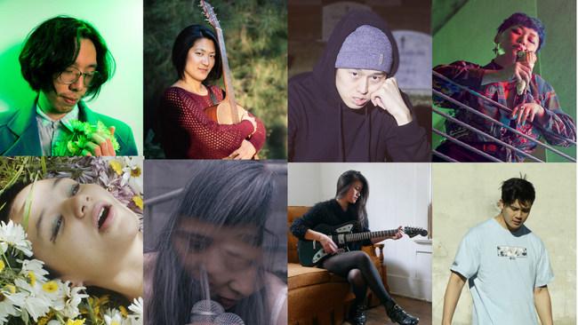 From Top Left Clockwise: Wind Meets West, Pattie Lin, Keepitinside, Devyn Moon, Kate Burnotts, Dao Strom, Ariel Bui & Lowhi