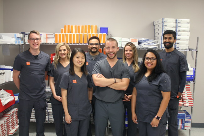 The Z5 Inventory team preparing to identify and reallocate excess medical inventory.