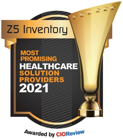 CIOReview's recognition of Z5 Inventory's status as one of the top companies servicing the health care industry in 2021.
