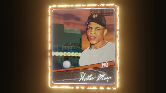 Willie Mays Animated #NFT with Autograph by LasVegasCollectibles.art