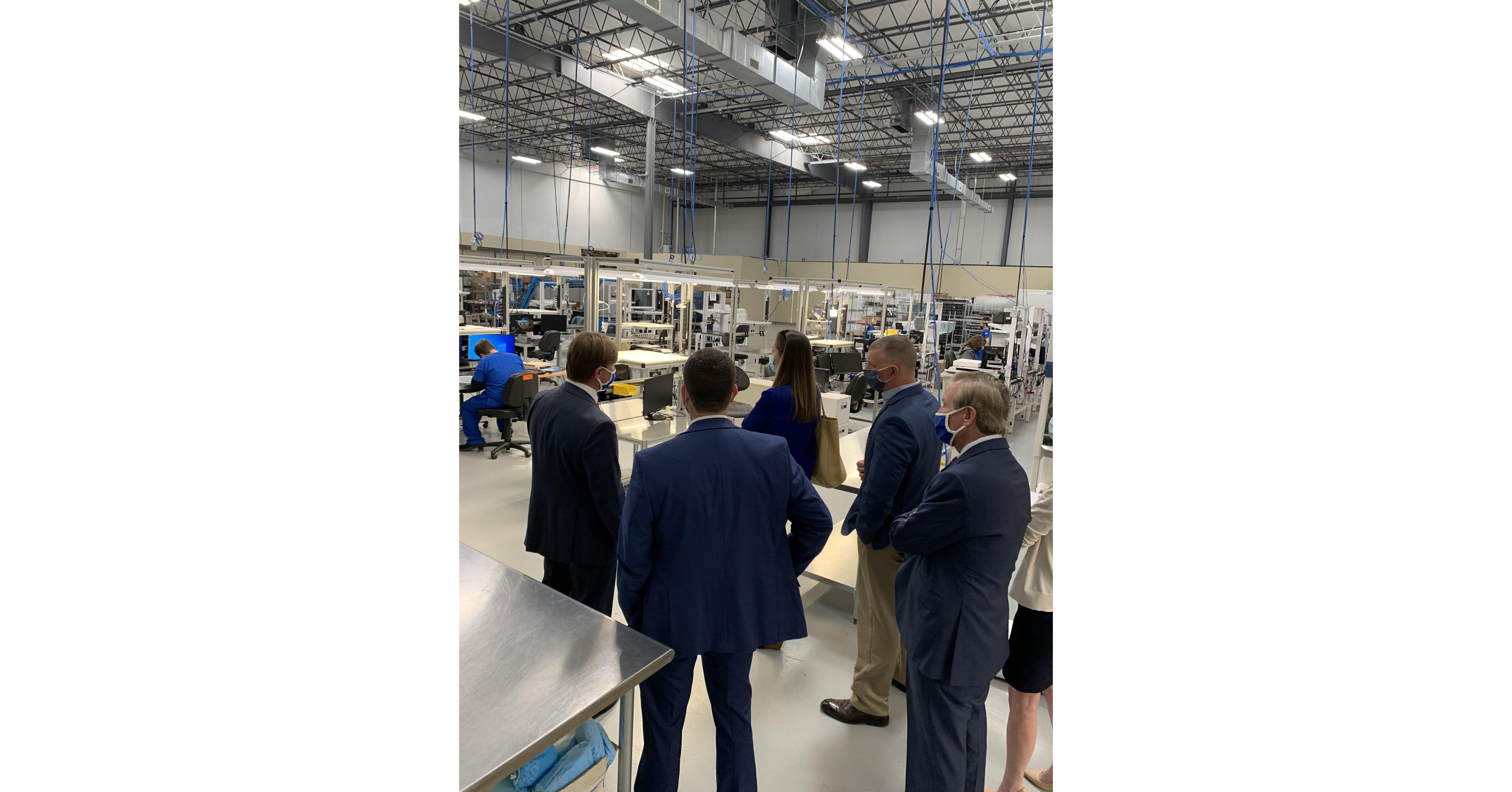 Senator Tim Scotts Senior Staff Visits SCs First COVID-19 Testing Lab at One Year Mark