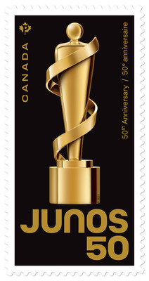 JUNO Awards Stamp / Timbre Prix JUNO (Groupe CNW/Postes Canada)