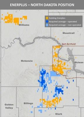 Enerplus Williston Basin Map April 2021 Acquisition (CNW Group/Enerplus Corporation)