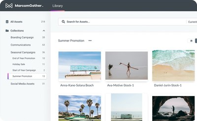 MarcomGather's sleek interface allows users to organize and find files in seconds.