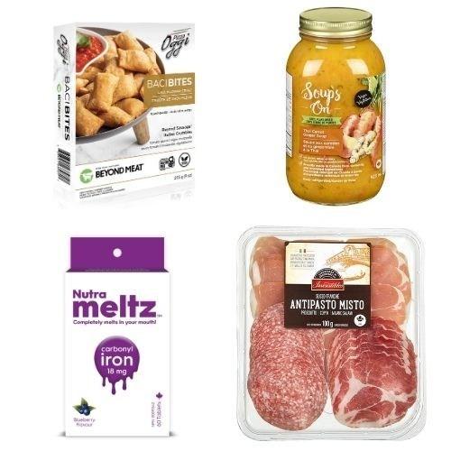 Quelques-uns des produits finalistes (Groupe CNW/Retail Council of Canada)