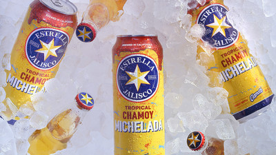 Estrella Jalisco's Tropical Chamoy Michelada is a refreshing and flavorful lager - a fruity spin on the classic beer cocktail. Featuring a 3.5% ABV, the lager packs a delicious punch, blending pineapple, clamato and chamoy.