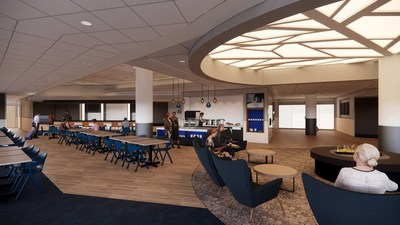 Alaska Airlines announces new plans to open Lounge at San Francisco International Airport by summer 2021 Note: Lounge design is subject to change from artistic renderings.