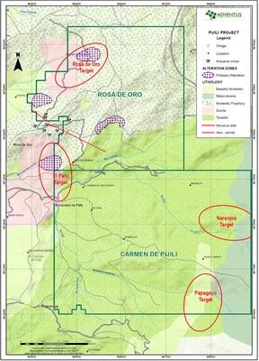 Figure 1: Regional Geology Map (CNW Group/Adventus Mining Corporation)
