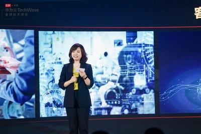 Jacqueline Shi, presidente do departamento de marketing e serviços de vendas globais, nuvem e IA (PRNewsfoto/HUAWEI CLOUD)