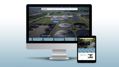 The dynamic Solenis website redesign features a solution finder along with expanded career and sustainability information.