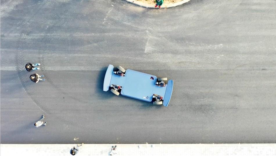 Aerial shot of REE platform.